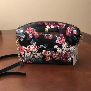 Anne klein black floral bag